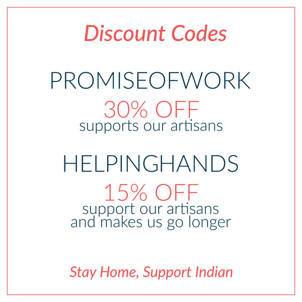 Discounts for Cotton Rack Purchase. You can use PROMISEOFWORK for 30% or you can use HELPINGHANDS for 15% off.