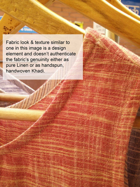 An example closeup image of Khadi image showcasing the similarities between Khadi Cotton & Linen