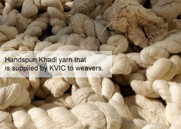 Hanks of Handspun Khadi Threads/Yarn