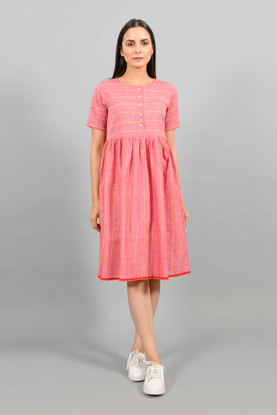 Drench Red- Gather Dress