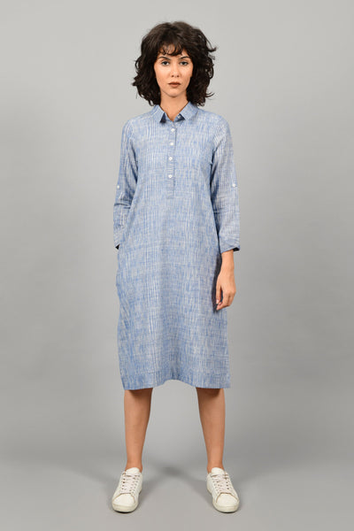 Hue Blue- Shirt Dress