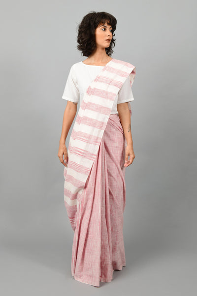 Hellebore Red- Saree