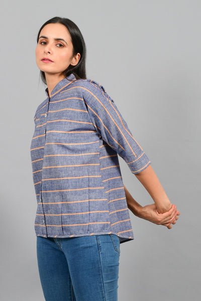 Monsoon Blue- Free Size Shirt