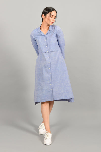 Sirocco Blue- Shirt Dress