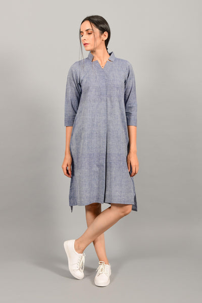 Slumber Blue- Dress-Kurta