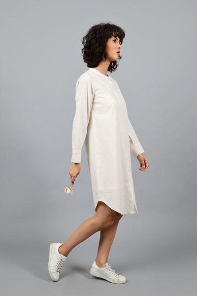 Clear Day- Printed Shirt Dress