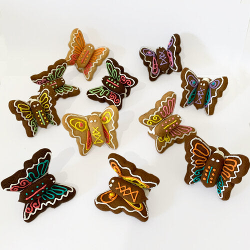 Ginger Peach Garden Butterfly Trio