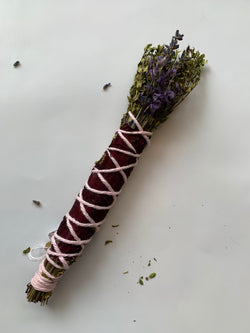 Small Red Herbal Smudge Wand
