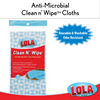 "Anti-Microbial Clean n' Wipe™ Cloths, Extra Large, 22""x12"" - Comparable to Extra Large Clorox® Handi Wipes® - 6 pack"
