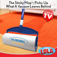 Lola Rola Sticky Mop™ with extender handle, AS SEEN ON TV, 903
