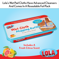 Wet Mopping Pads & Cloths | 72 Count | SWIFFER SWEEPER by P&G COMPATIBLE | Citrus Scented | Lola® Brand, Item# 9004