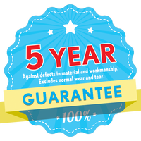 5 YEAR GUARANTEE - Against Defects in Material & Workmanship (excludes Wear n' Tear), Dust Pan and Brush, Item#511