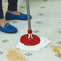 Our spin mop bucket is built with a self-balancing feature to prevent spilling of water while on the move, #232, LOLA SPINNER MOPP