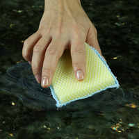 Nylon Net & Microfiber Terry Sponge 2 way Cleaning Pad, Item# 462, by LOLA PRODUCTS, microfiber side