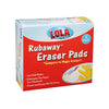 Lola Brand, item# 4224 Rubaway Eraser Pad, 4 pack, case of 12, Mr. Clean Magic Eraser Compatible