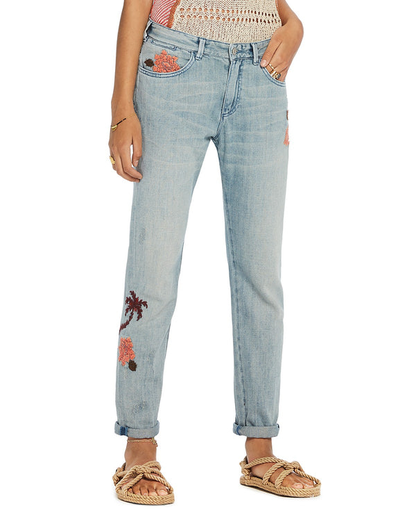 Bandit Embroidered Tapered Fit Jean