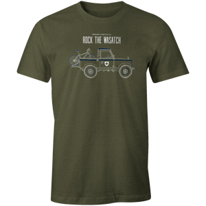 Men's T-shirt - Land Rover Truck and Bike