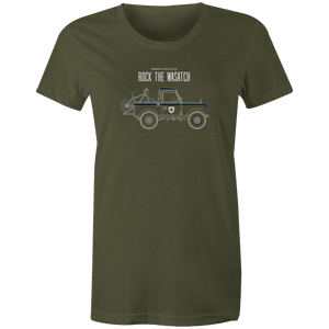 Women's T-shirt - Land Rover Truck and Bike