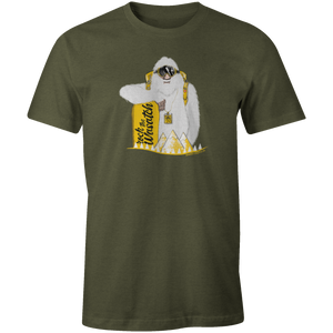 Men's T-shirt - Yeti Snowboarder