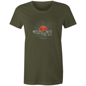 Women's T-shirt - Sunrise Over the Wasatch