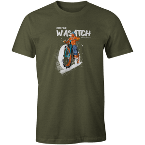 Men's T-shirt - Winter Fat Tire Bike