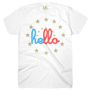 Hello Starburst Adult T-Shirt