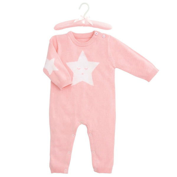 Star Jumpsuit Pink 3/6 Month