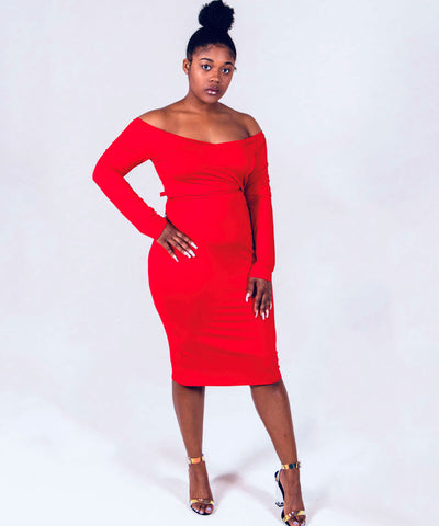 Sexy Red Dress - Fácil boutique