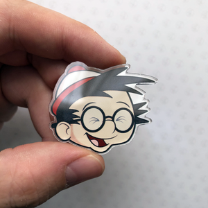 Where's Bobby? ACRYLIC PIN