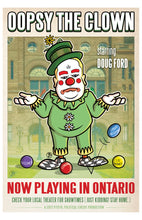 Load image into Gallery viewer, Ontario Clown poster