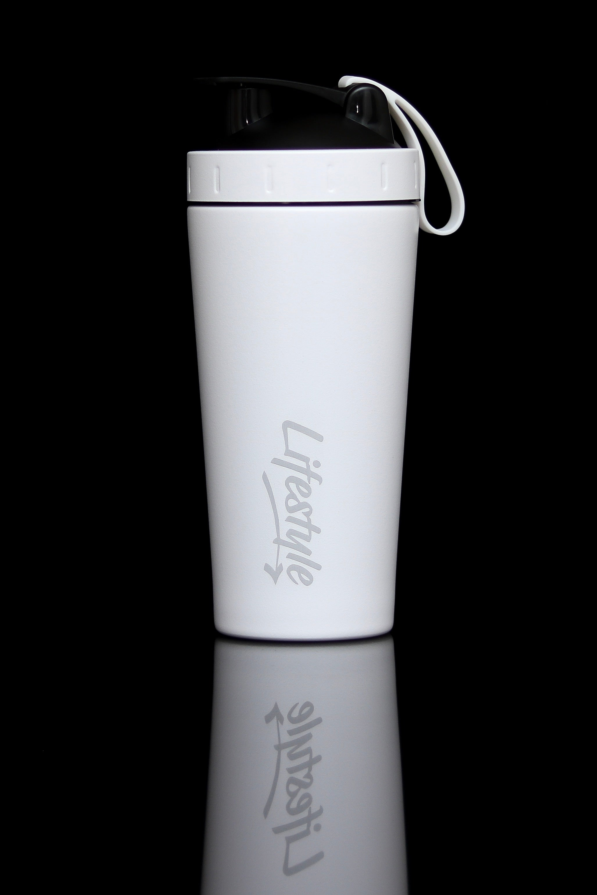 Premium Steel Shaker Bottle - White (New)