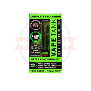 1000mg CBD Oil Vape Tank Cartridge by Hemp Bombs - CBD vs THC, CBDistillery, Medterra, Elixinol, CBD Vape Juice