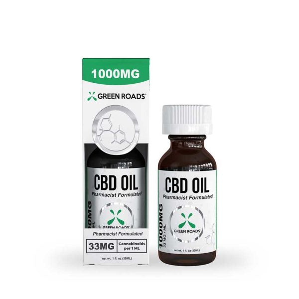 1000mg Tincture 30ml by Green Roads - CBD vs THC, CBDistillery, Medterra, Elixinol, CBD Vape Juice