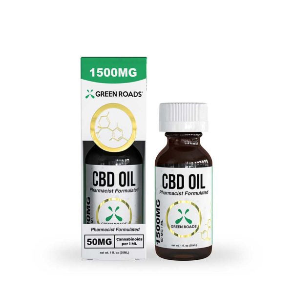 1500mg Tincture 30ml by Green Roads - CBD vs THC, CBDistillery, Medterra, Elixinol, CBD Vape Juice