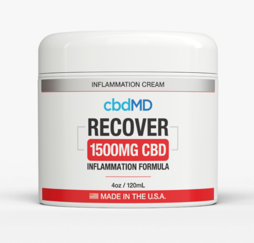 1500mg Recover Inflammation Topical 4oz by cbdMD - CBD vs THC, CBDistillery, Medterra, Elixinol, CBD Vape Juice