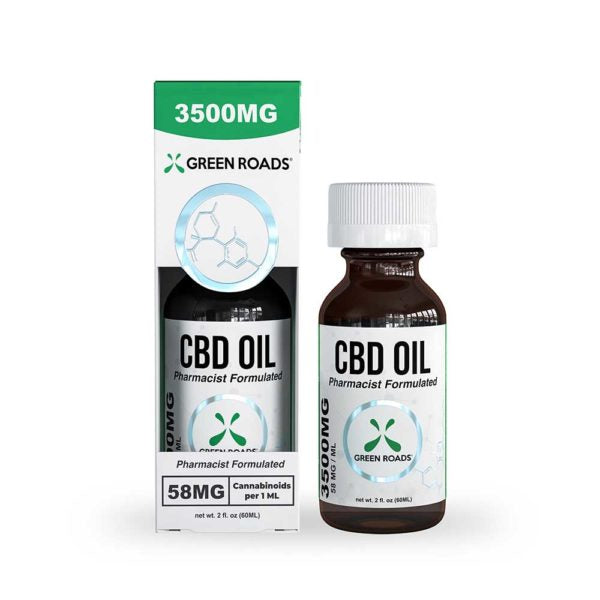 3500mg Tincture 60ml by Green Roads - CBD vs THC, CBDistillery, Medterra, Elixinol, CBD Vape Juice