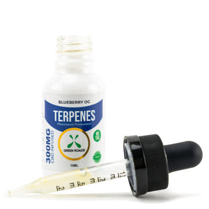 Blueberry OG Terpenes Tincture by Green Roads - CBD vs THC, CBDistillery, Medterra, Elixinol, CBD Vape Juice