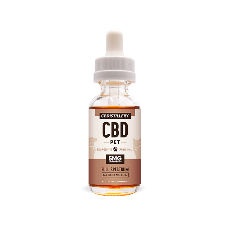 150mg Pet Tincture by CBDistillery (30ml) - CBD vs THC, CBDistillery, Medterra, Elixinol, CBD Vape Juice