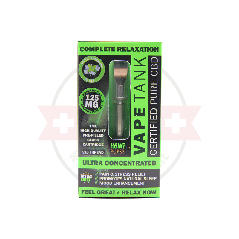 125mg CBD Oil Vape Tank Cartridge by Hemp Bombs