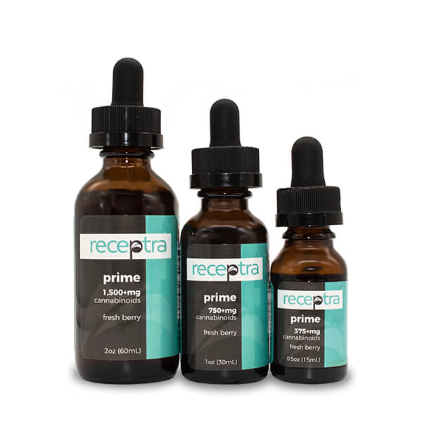 Receptra™ Health and Wellness Hemp Tincture (Prime) - CBD vs THC, CBDistillery, Medterra, Elixinol, CBD Vape Juice
