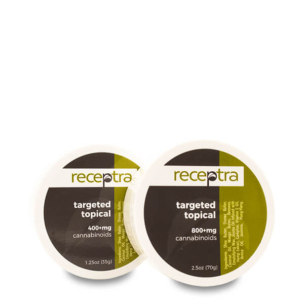 Receptra™ Targeted Hemp Oil Topical - CBD vs THC, CBDistillery, Medterra, Elixinol, CBD Vape Juice