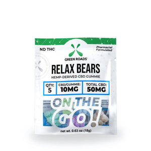 Relax Bears On-The-Go Gummies by Green Roads - CBD vs THC, CBDistillery, Medterra, Elixinol, CBD Vape Juice
