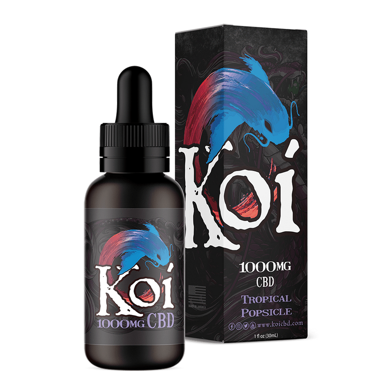 Tropical Popsicle Koi E-Liquid 30ml - CBD vs THC, CBDistillery, Medterra, Elixinol, CBD Vape Juice