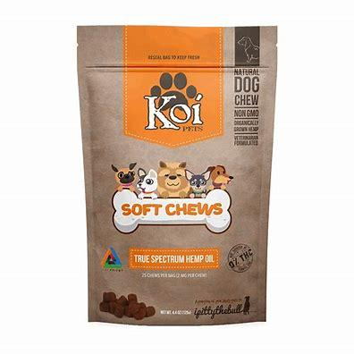 Soft Chew Dog Treats by Koi - CBD vs THC, CBDistillery, Medterra, Elixinol, CBD Vape Juice