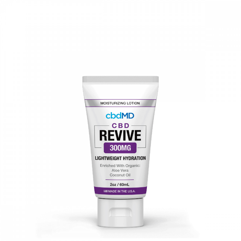 300mg Revive Moisturizing Topical 2oz by cbdMD - CBD vs THC, CBDistillery, Medterra, Elixinol, CBD Vape Juice