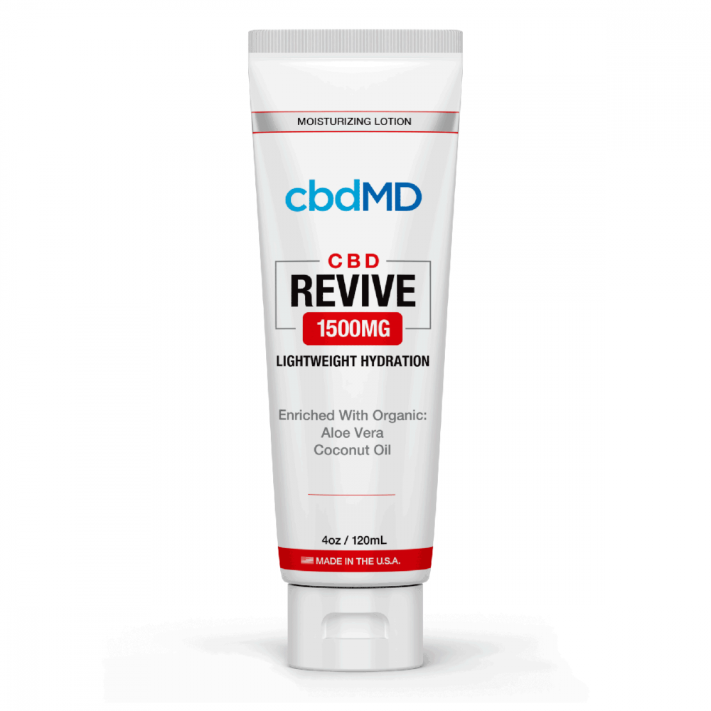 1500mg Revive Moisturizing Topical 4oz by cbdMD - CBD vs THC, CBDistillery, Medterra, Elixinol, CBD Vape Juice