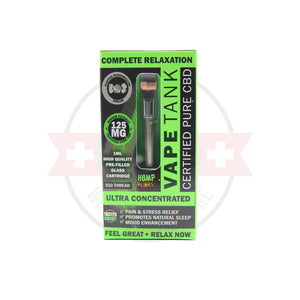 125mg CBD Oil Vape Tank Cartridge by Hemp Bombs - CBD vs THC, CBDistillery, Medterra, Elixinol, CBD Vape Juice