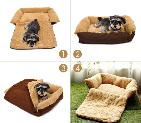 Image of 3-Way Pet Dog Cushion Bed Mat
