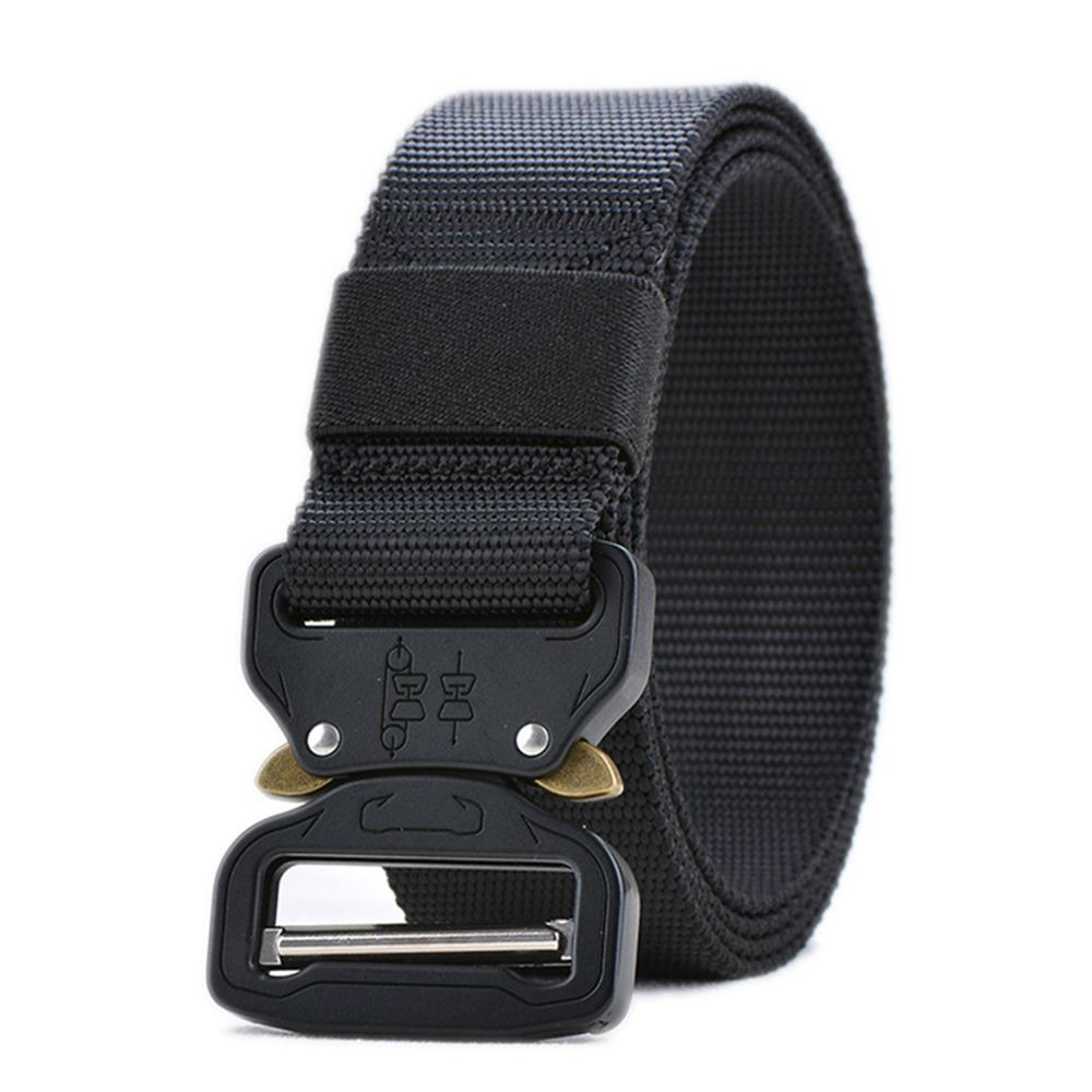 Tactical Belt With Automatic Metal Buckle