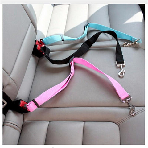 Image of Durable Adjustable Pet Car Safety Seat Belt Leash For Dogs
